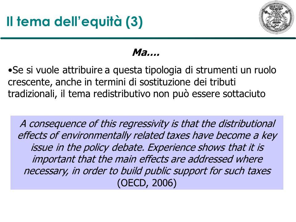 Il tema dell'equità (3) Ma….