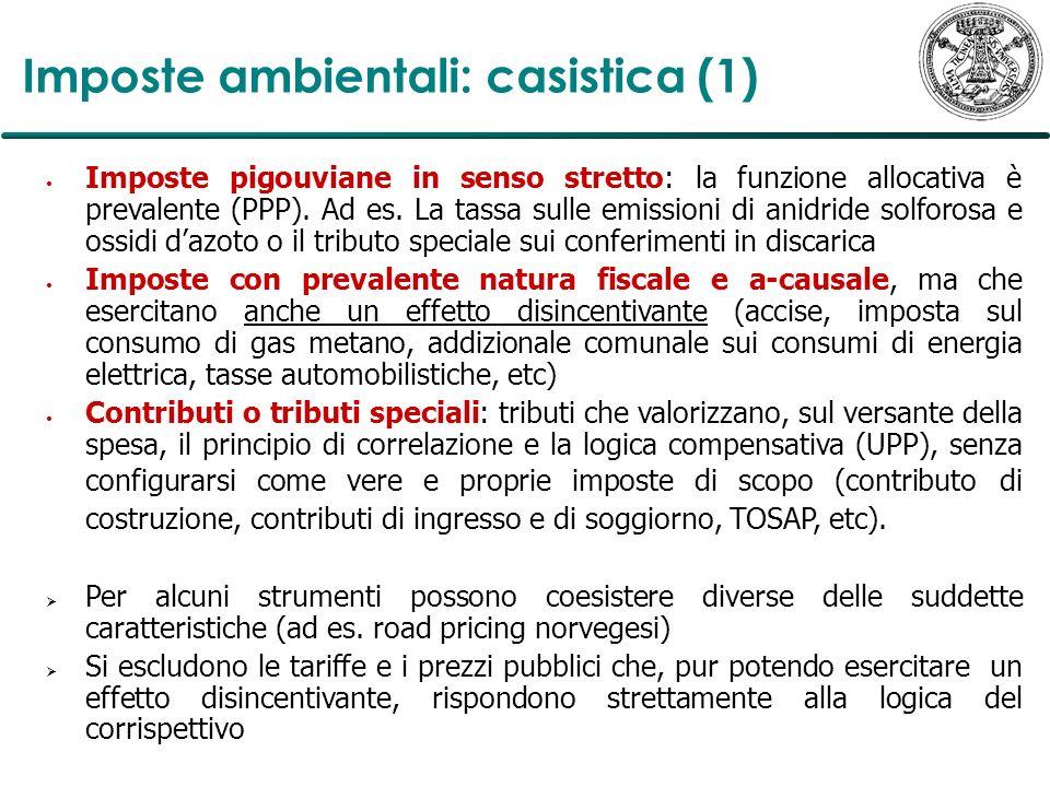 Imposte ambientali: casistica (1)