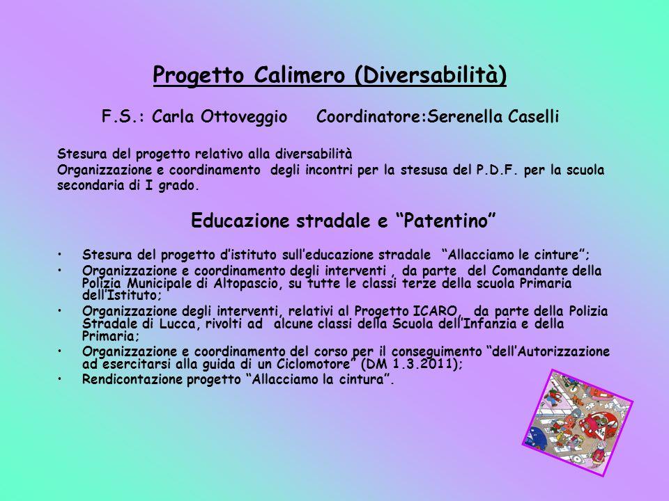 Progetto Calimero (Diversabilità) F. S