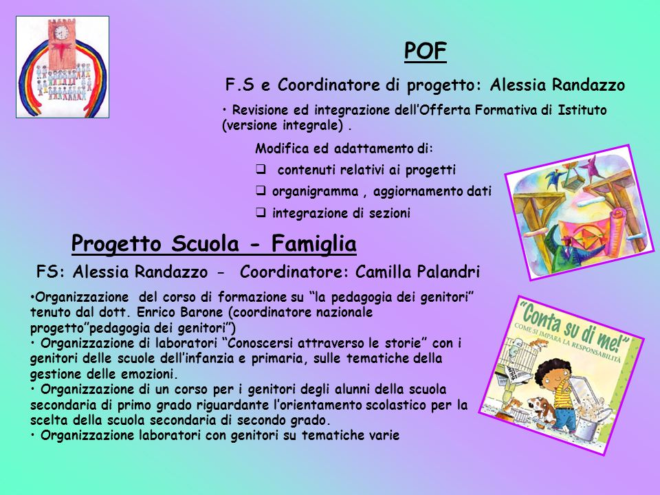 F.S e Coordinatore di progetto: Alessia Randazzo