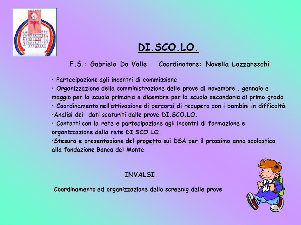 F.S.: Gabriela Da Valle Coordinatore: Novella Lazzareschi