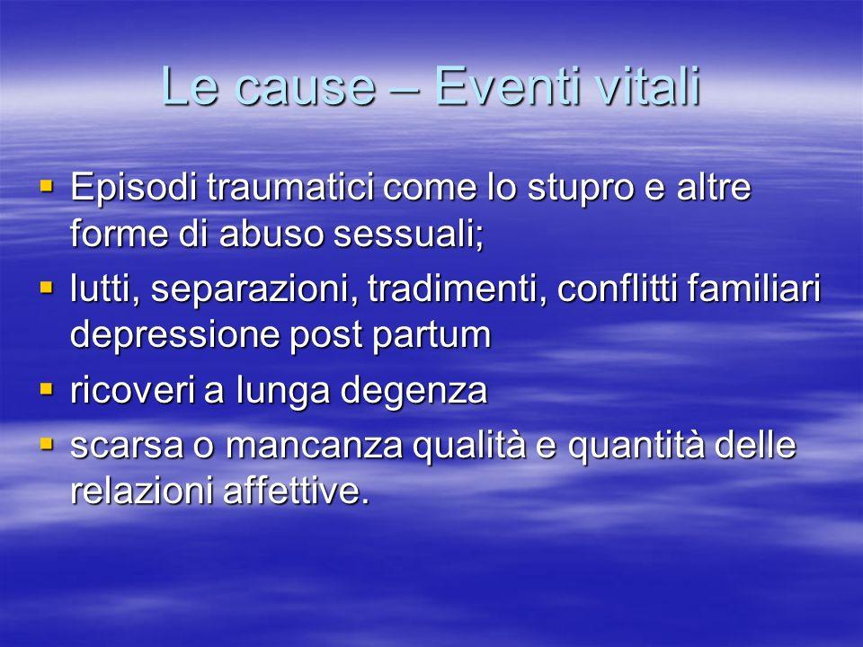 Le cause – Eventi vitali