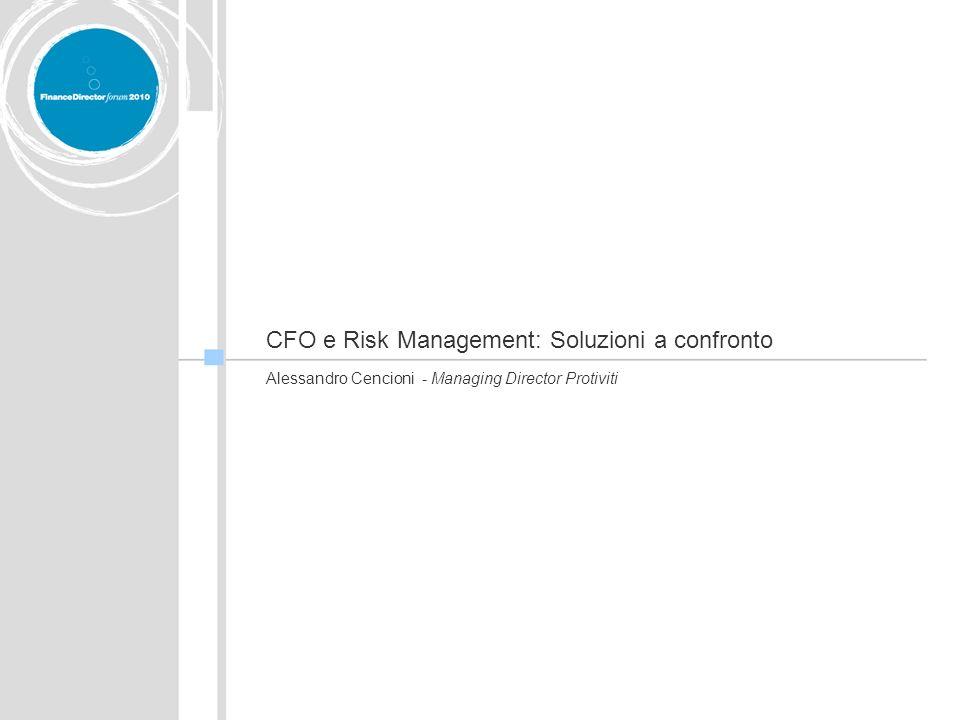 CFO e Risk Management: Soluzioni a confronto