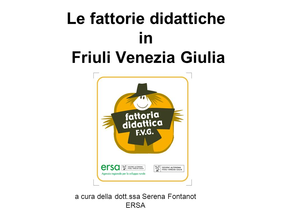 Le fattorie didattiche in Friuli Venezia Giulia