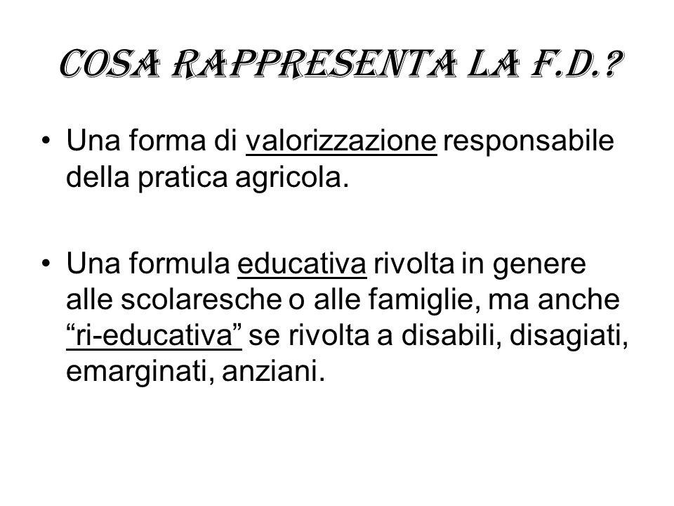Cosa rappresenta la f.d. Una forma di valorizzazione responsabile della pratica agricola.