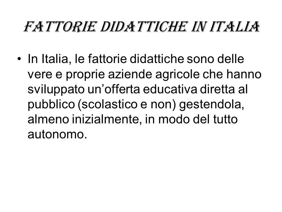 Fattorie didattiche in Italia