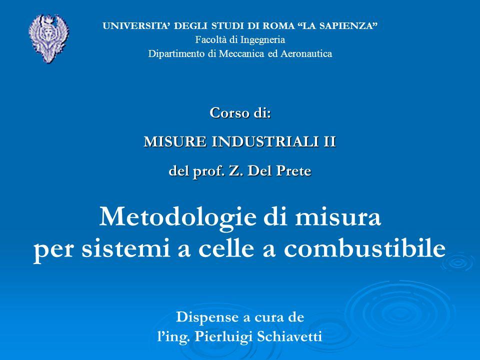 Metodologie di misura per sistemi a celle a combustibile