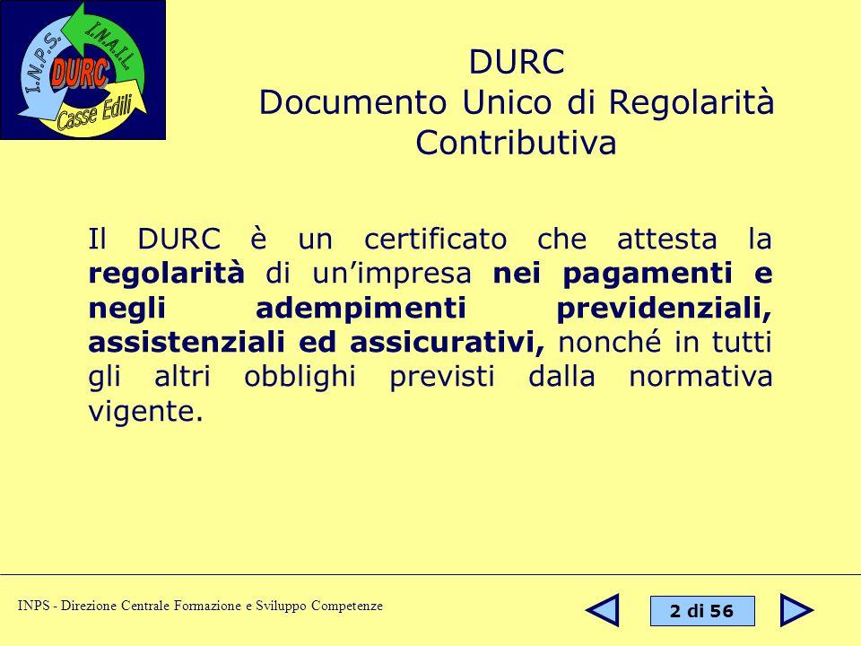 Documento Unico di Regolarità Contributiva
