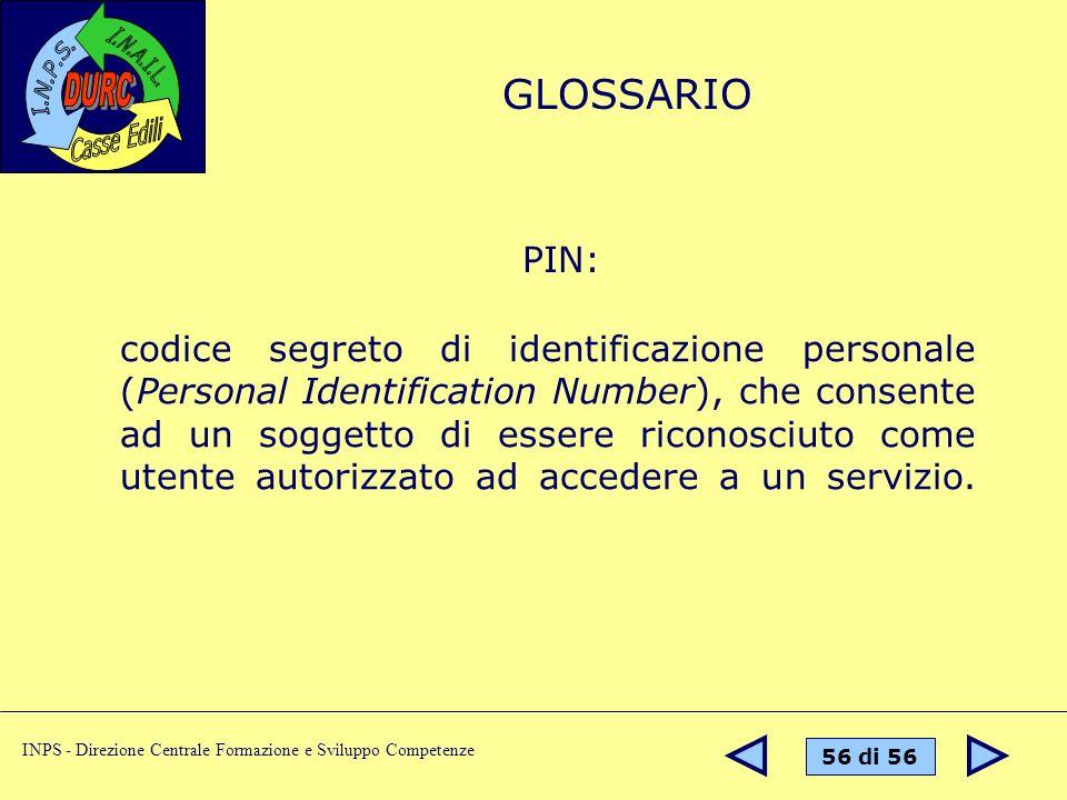 GLOSSARIO PIN: