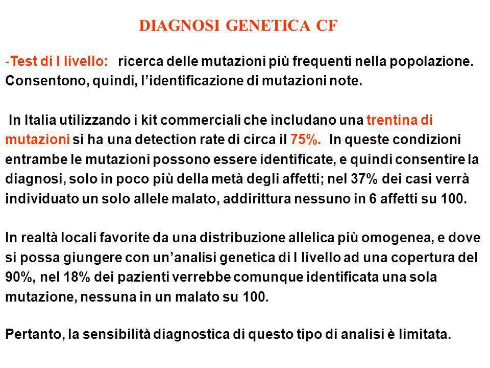 DIAGNOSI GENETICA CF