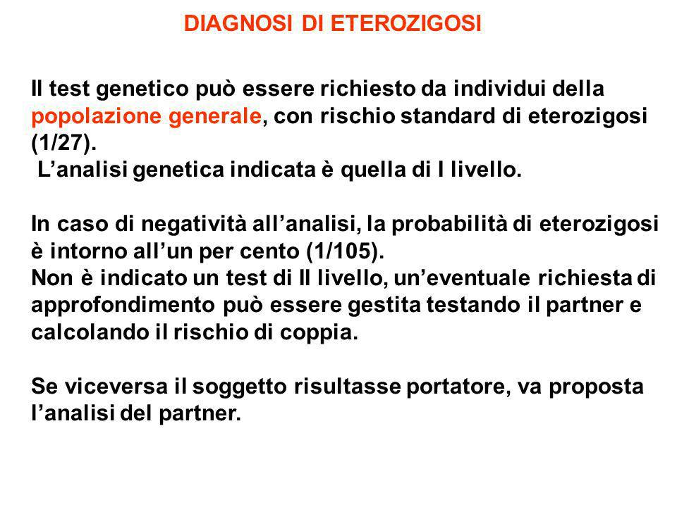 DIAGNOSI DI ETEROZIGOSI