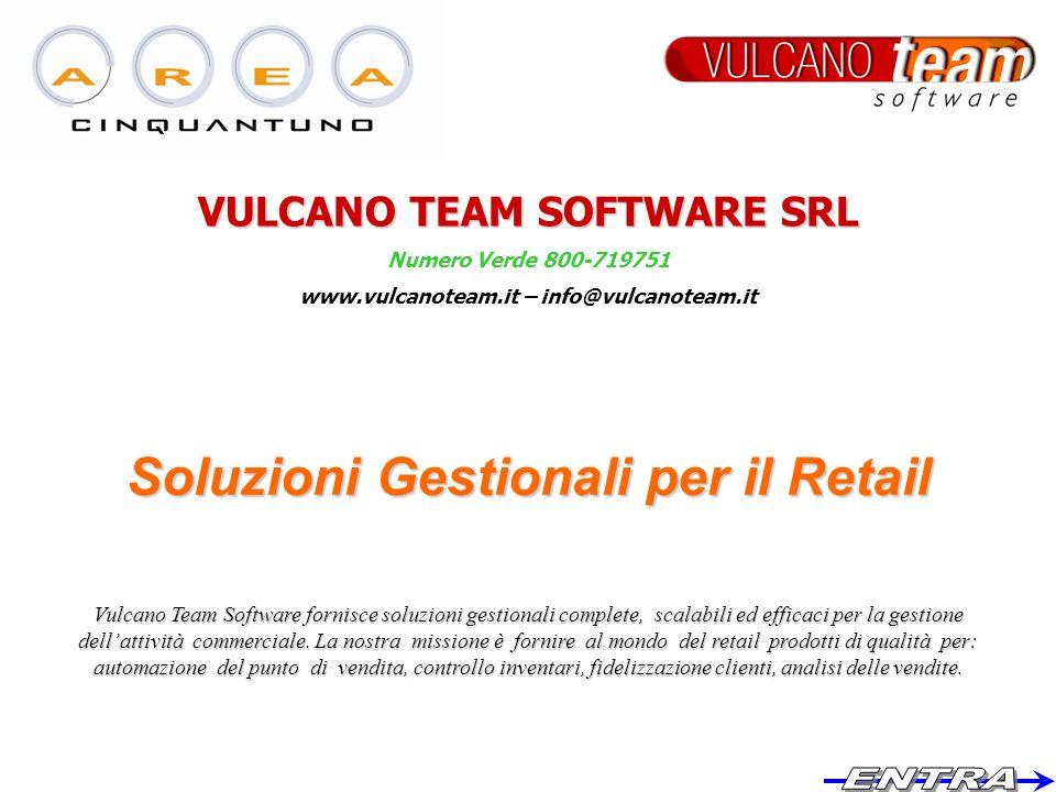 VULCANO TEAM SOFTWARE SRL www.vulcanoteam.it – info@vulcanoteam.it