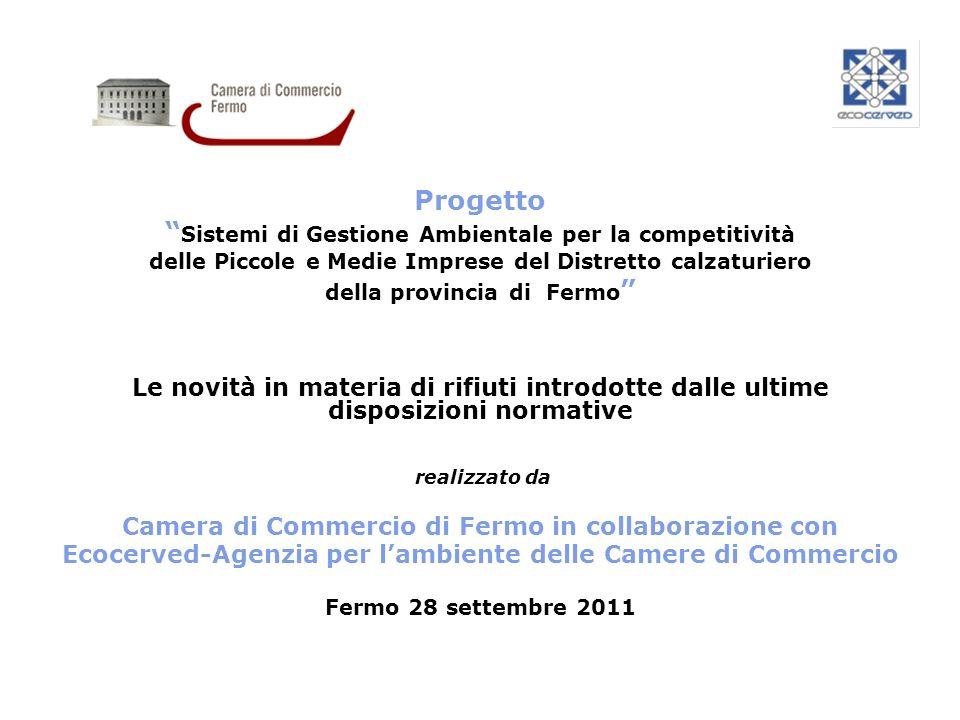Progetto Sistemi di Gestione Ambientale per la competitività