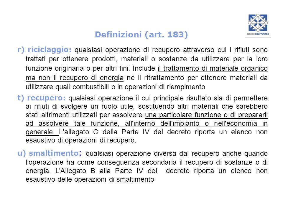 Definizioni (art. 183)