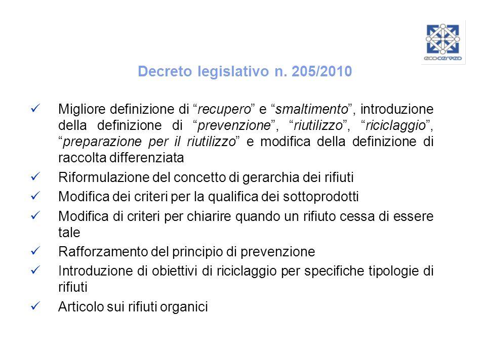 Decreto legislativo n. 205/2010