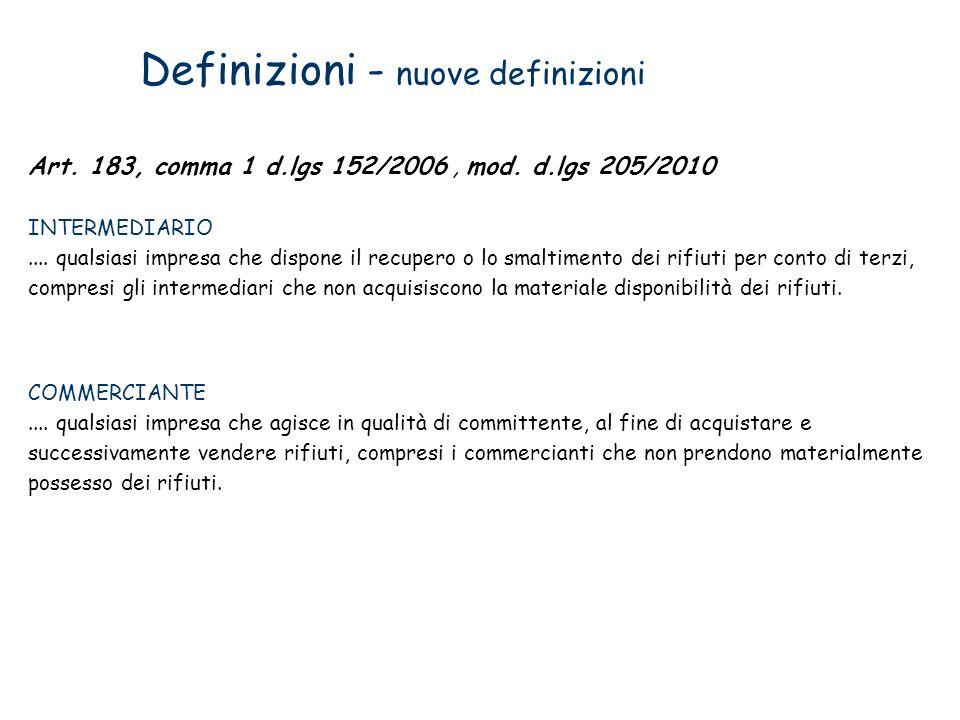 Definizioni - nuove definizioni