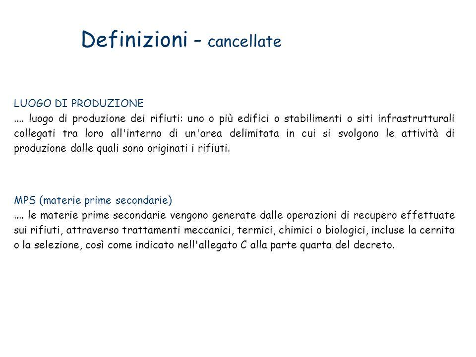 Definizioni - cancellate