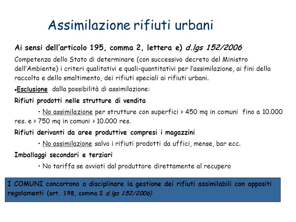 Assimilazione rifiuti urbani