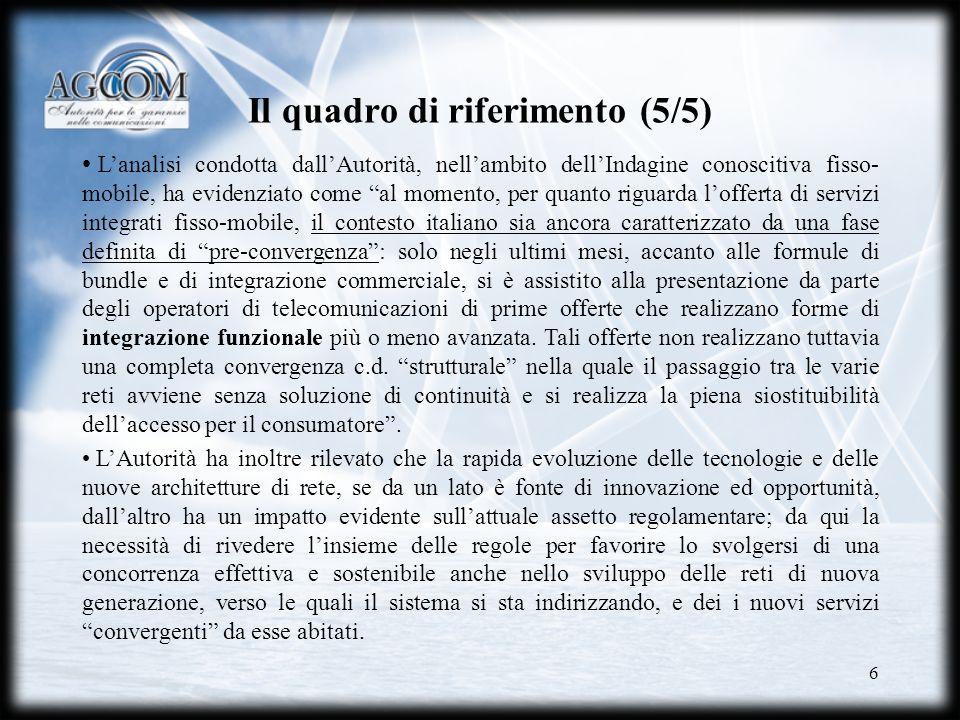 Il quadro di riferimento (5/5)