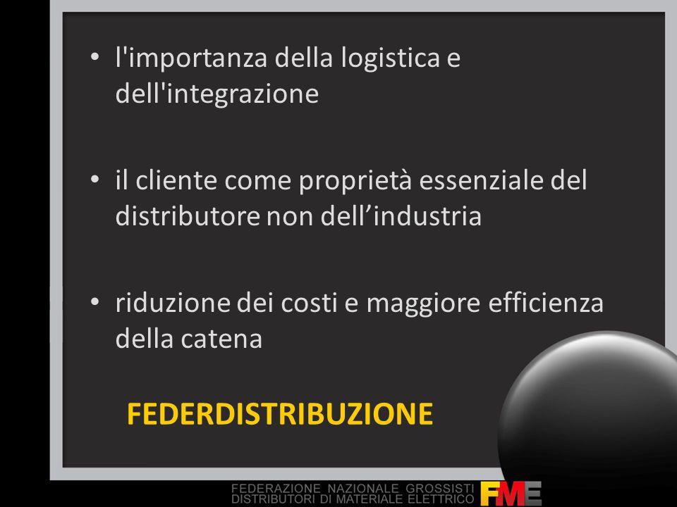 FEDERDISTRIBUZIONE l importanza della logistica e dell integrazione