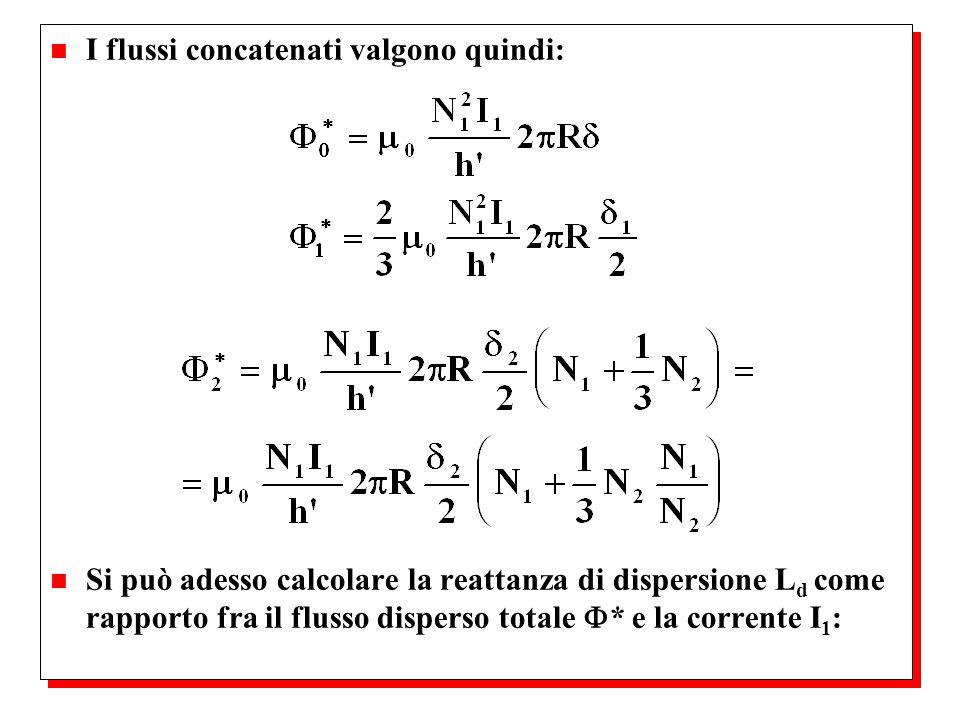I flussi concatenati valgono quindi: