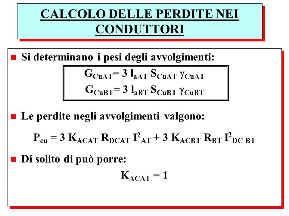 CALCOLO DELLE PERDITE NEI CONDUTTORI
