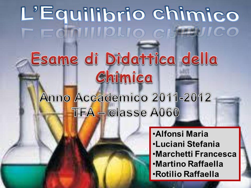 L'Equilibrio chimico Esame di Didattica della Chimica