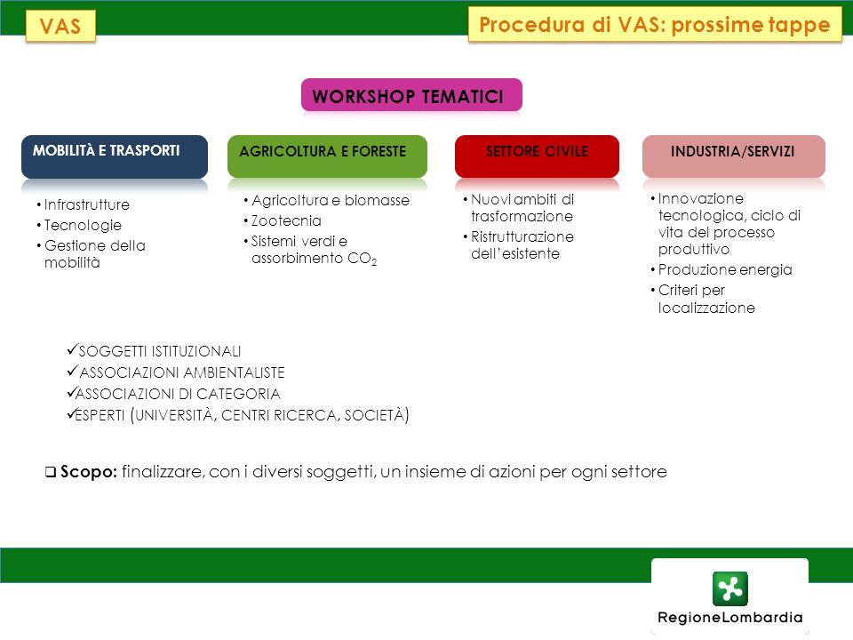 Procedura di VAS: prossime tappe
