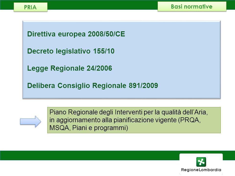 Direttiva europea 2008/50/CE Decreto legislativo 155/10
