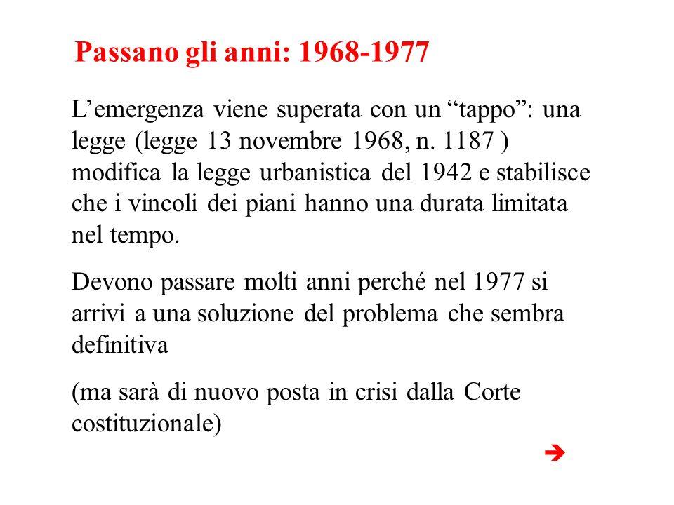 Passano gli anni: 1968-1977
