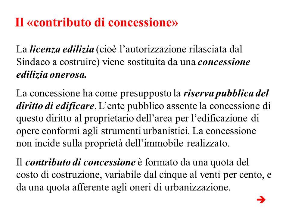 Il «contributo di concessione»