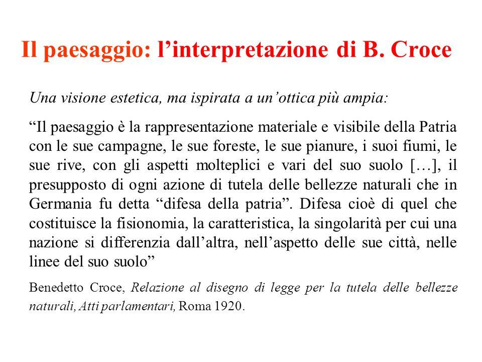 Il paesaggio: l'interpretazione di B. Croce