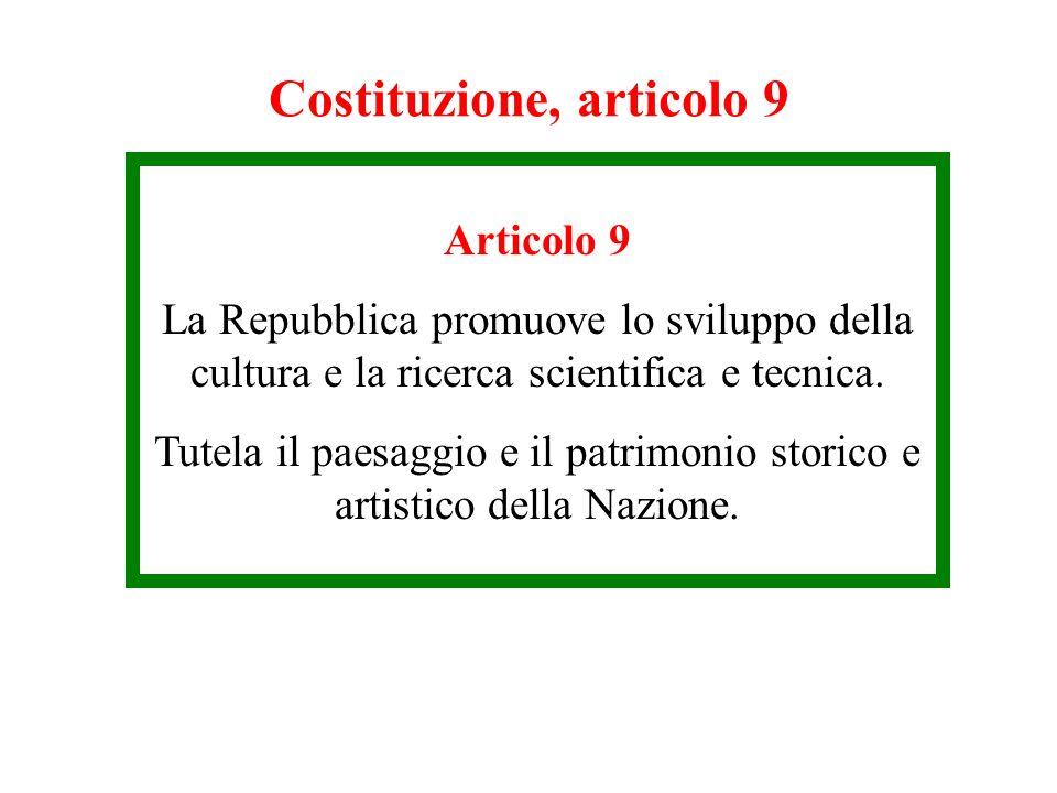 Costituzione, articolo 9