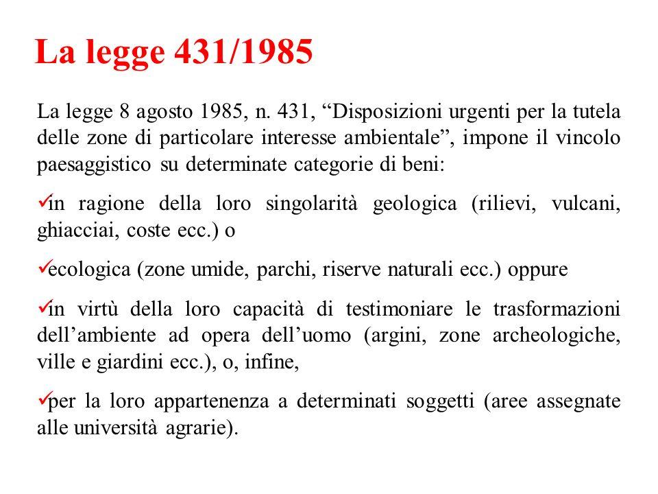 La legge 431/1985