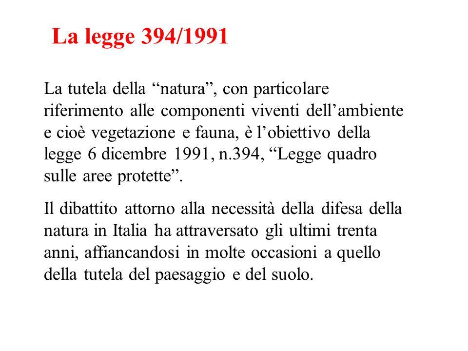 La legge 394/1991