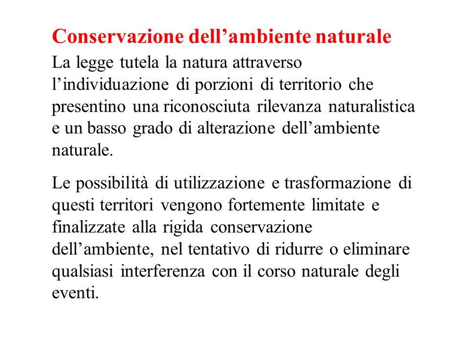Conservazione dell'ambiente naturale
