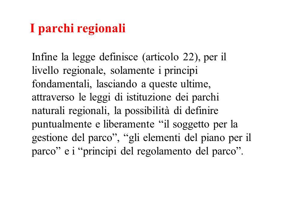 I parchi regionali