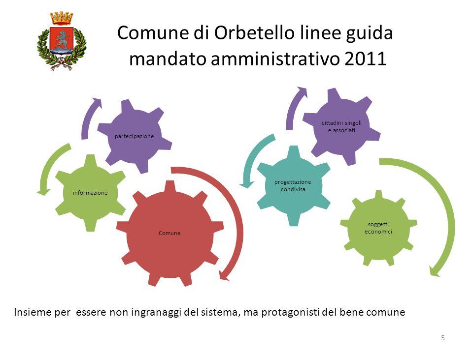 Comune di Orbetello linee guida mandato amministrativo 2011