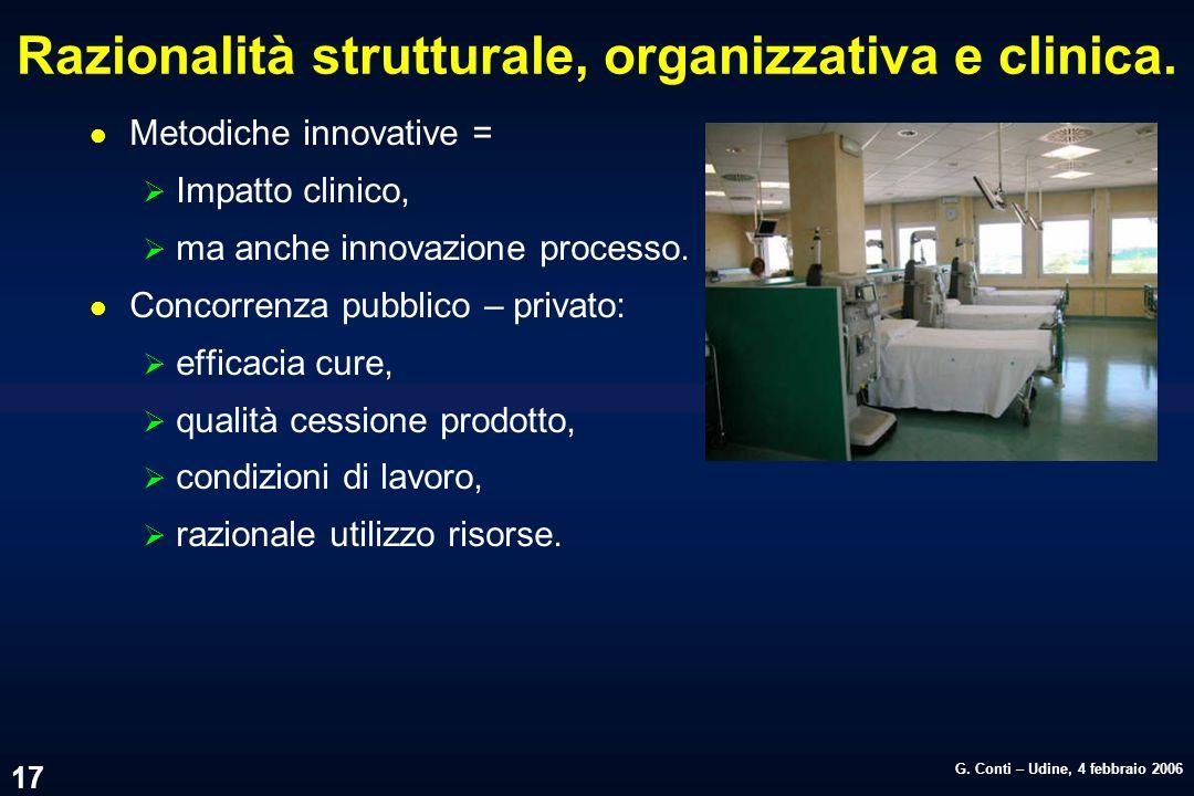 Razionalità strutturale, organizzativa e clinica.