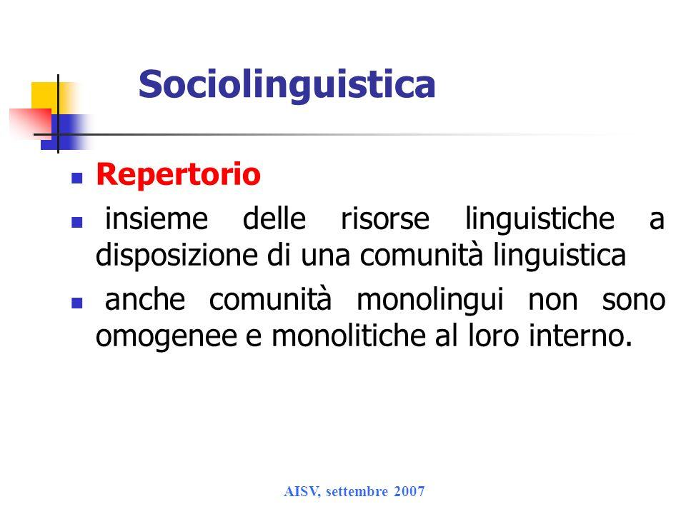 Sociolinguistica Repertorio