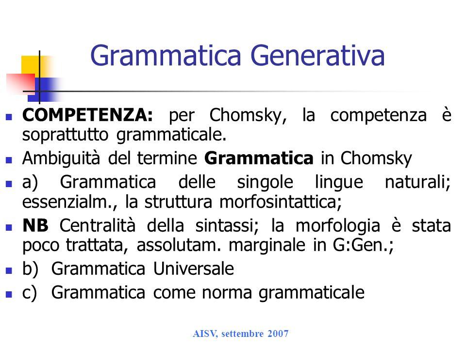 Grammatica Generativa