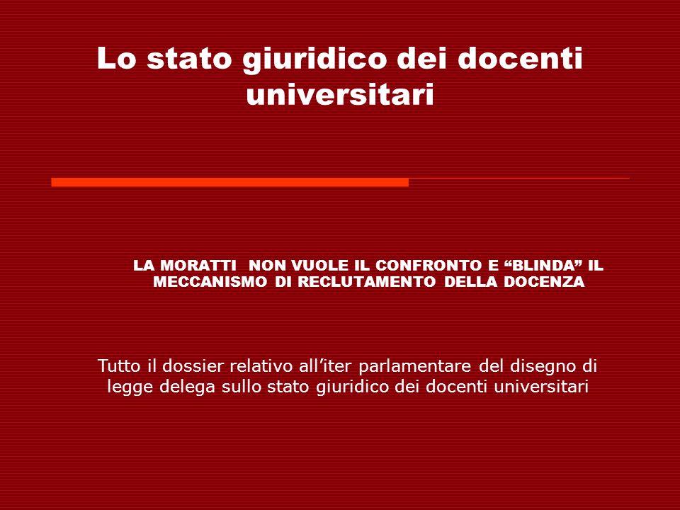 Lo stato giuridico dei docenti universitari