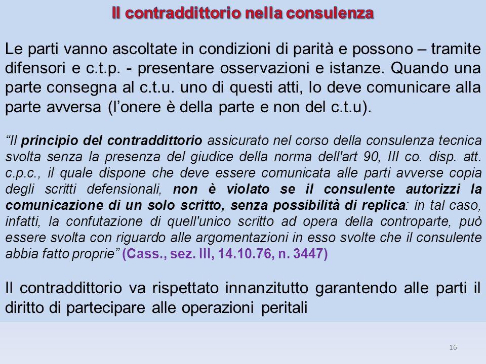 Il contraddittorio nella consulenza