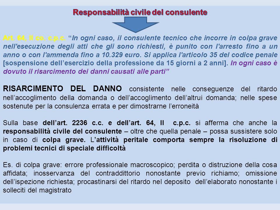 Responsabilità civile del consulente