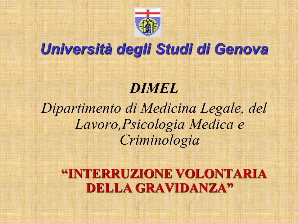 Università degli Studi di Genova DIMEL