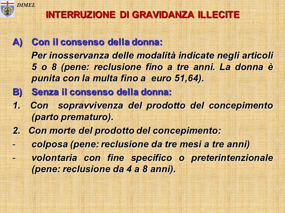 INTERRUZIONE DI GRAVIDANZA ILLECITE