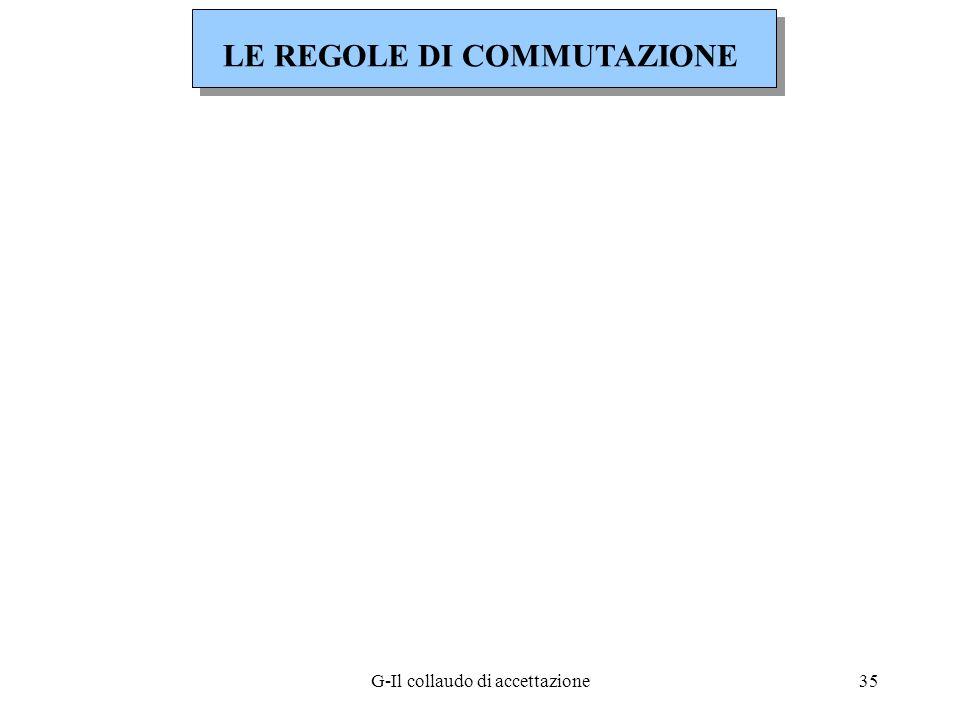 LE REGOLE DI COMMUTAZIONE