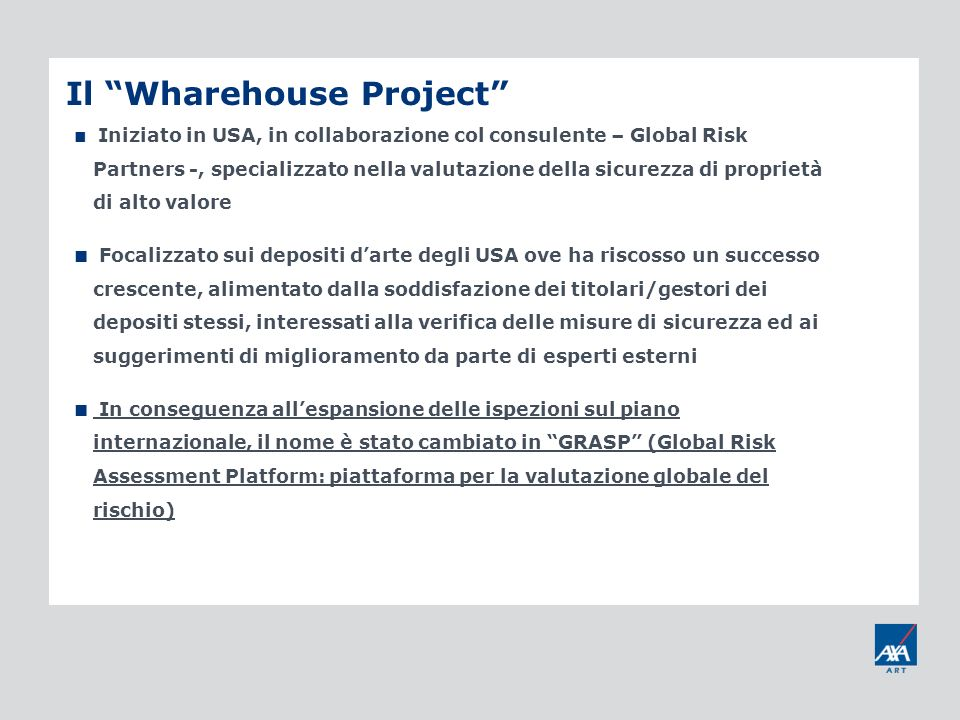 Il Wharehouse Project