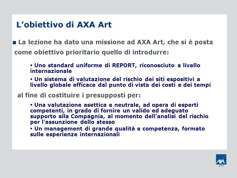 L'obiettivo di AXA Art al fine di costituire i presupposti per: