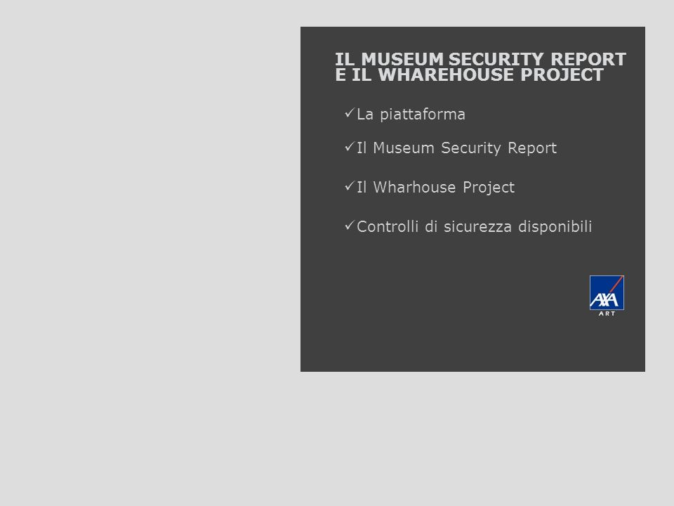 IL MUSEUM SECURITY REPORT E IL WHAREHOUSE PROJECT